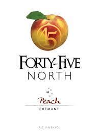 45 North Peach Cremant Sparkling