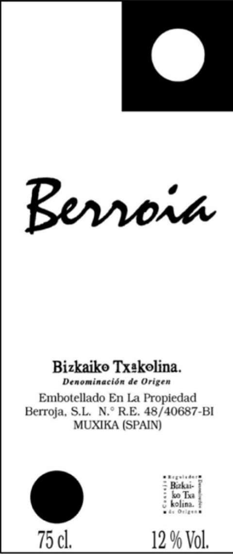 Bodegas Berroja Berroia Txakoli
