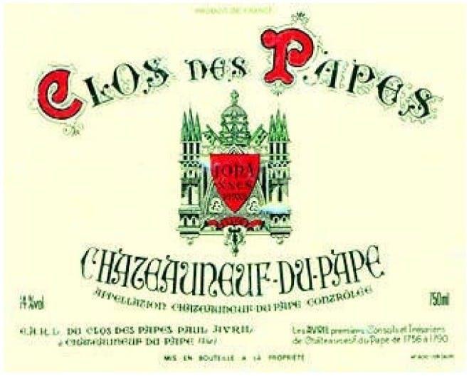 Clos Des Papes Châteauneuf Du Pape 2018