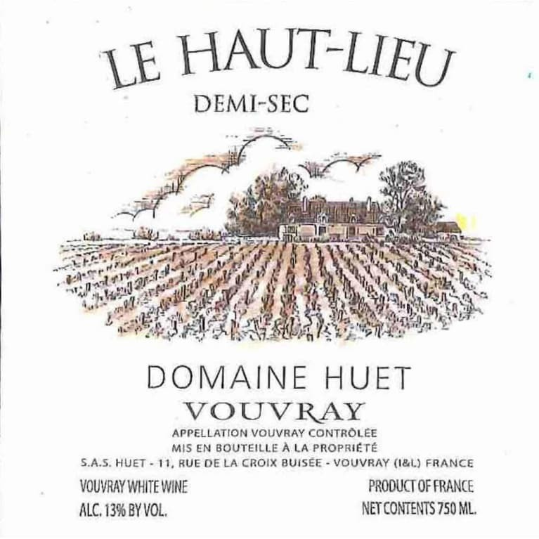Domaine Huet Le Haut Lieu Vouvray Demi Sec 2018