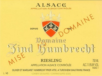 Domaine Zind Humbrecht Riesling
