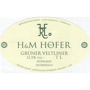 Hofer Gruner Veltliner 2016