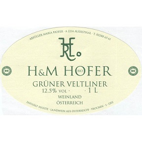 Hofer Gruner Veltliner Zweigelt 2016