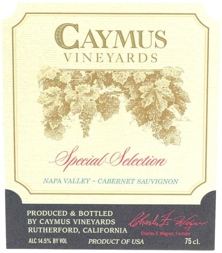 Caymus Special Select Cab