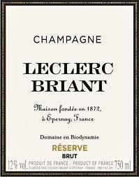 Champagne Leclerc Briant Brut Reserve Nv