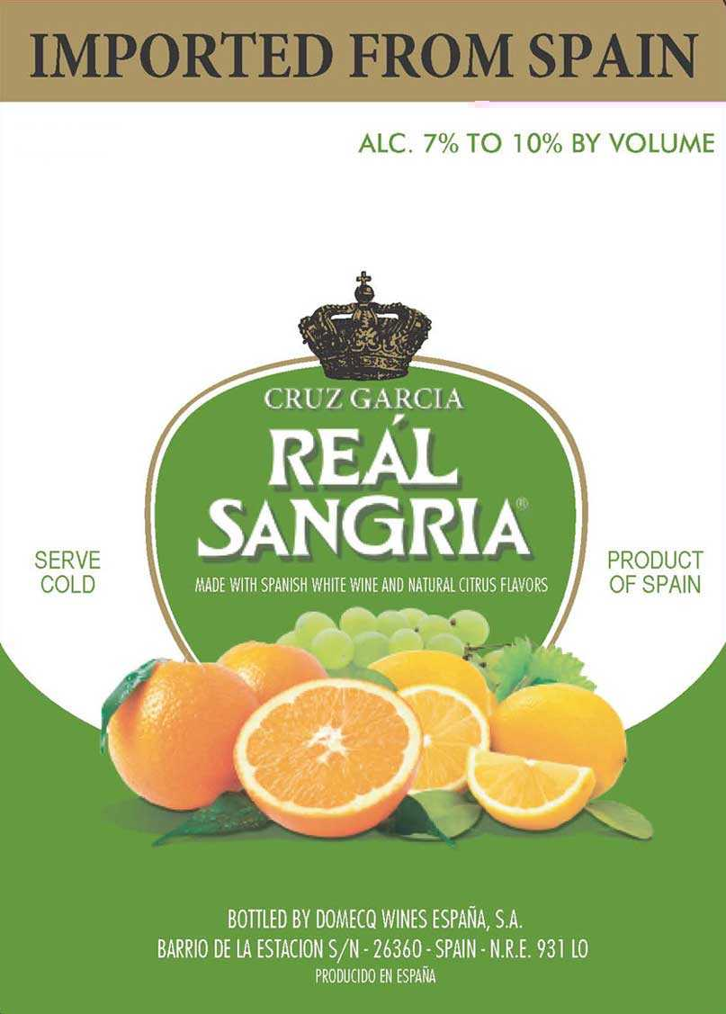 Cruz Garcia Real Sangria White