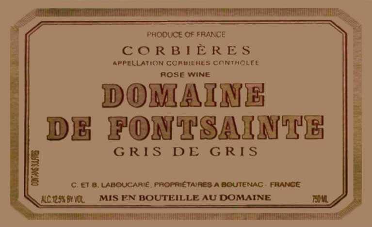 Domaine De Fontsainte Gris De Gris Rose