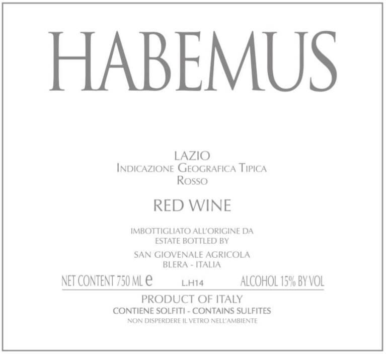 Habemus Red Wine