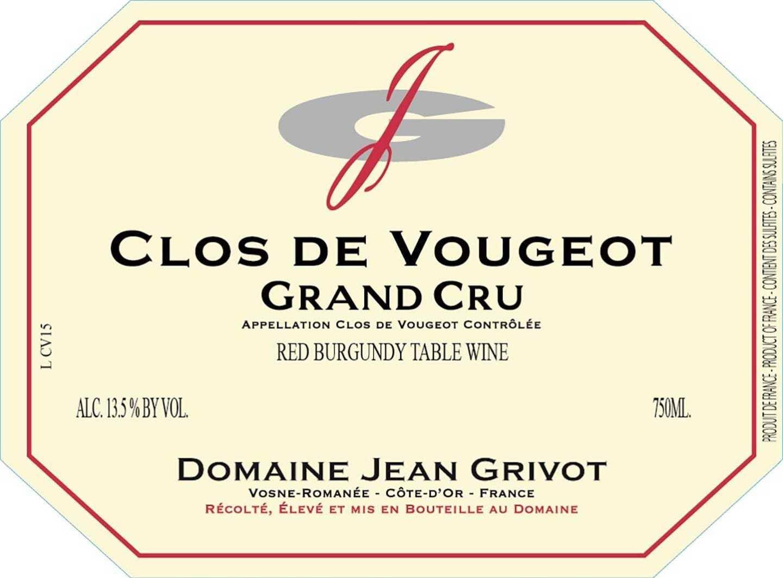 Jean Grivot Clos Vougeot
