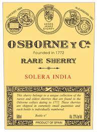 Osborne Oloroso India Rare