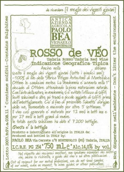 Paolo Bea Rosso De Veo