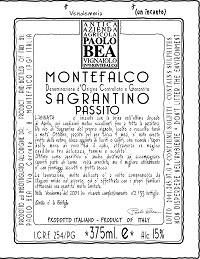 Paolo Bea Sangratinodi Montefalco Passito