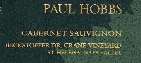 Paul Hobbs Beckstoffer Dr Crane