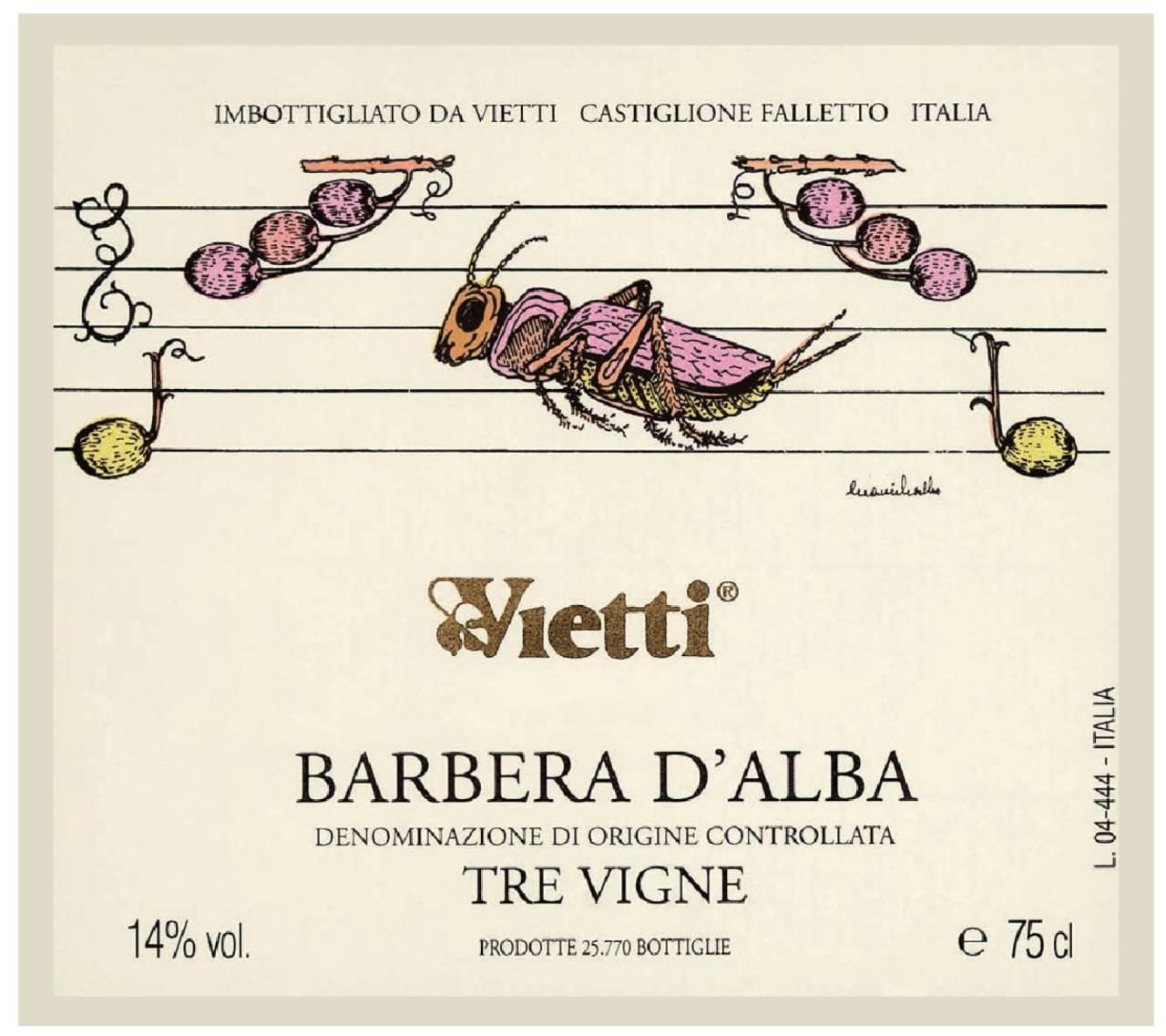 Vietti Barbera D Alba Tre Vigne 2018