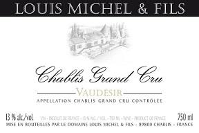 Louis Michel Fils Vaudesir Chablis Grand Cru 2017