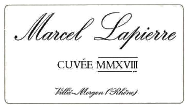 Marcel Lapierre Cuvee Mmxviii Morgon 2019