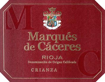 Marques De Caceres Rioja Crianza 2015