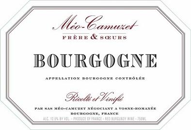 Meo Camuzet Hemisphere Sud Borgogne 2018