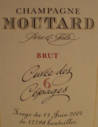 Moutard Cuvee Des 6 Cepages 2009
