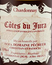 Pecheur Cotes Du Jura Chardonnay