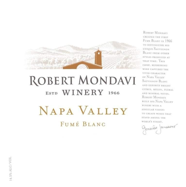 Robert Mondavi Napa Valley Fume Blanc 2018