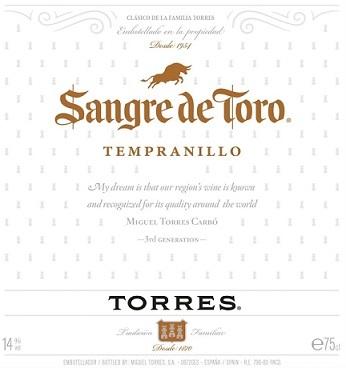 Sangre De Toro Temranillo
