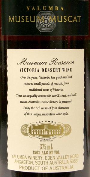 Yalumba Museum Muscat 375Ml Nv